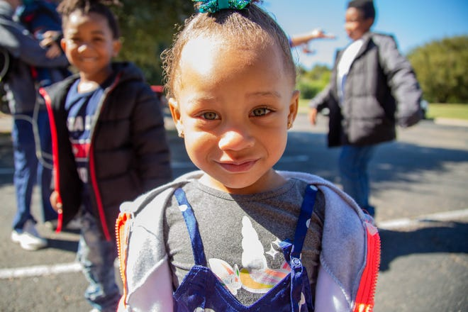 A'zaria Milam-Barfield, 2, has some developmental delays that have not yet been diagnosed. she and her twin-brother A'Zion were in the hospital for more than two months when they were born.