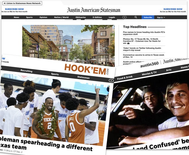 American-Statesman family of websites get a new look.