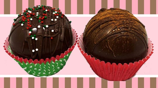 The Candy Jar in Collingswood is selling hot cocoa bombs with chocolate and holiday flavors.