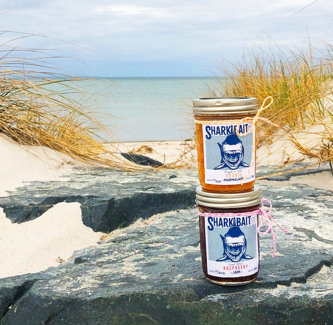 Shark Bait Food Company, based in Yarmouthport, sells five flavors of jam that give fruit a tasty update. [Kelly O'Connell}