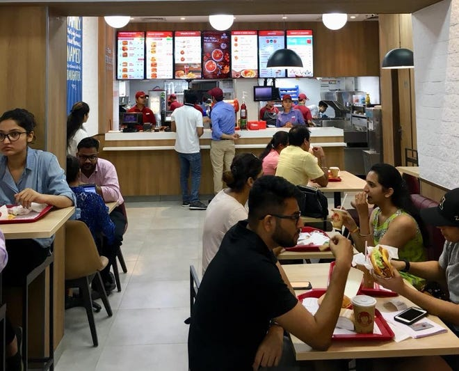 "Wendy's plans a major push into India, with ""cloud kitchens"" and conventional restaurants, such as this one, photographed before the coronavirus outbreak."