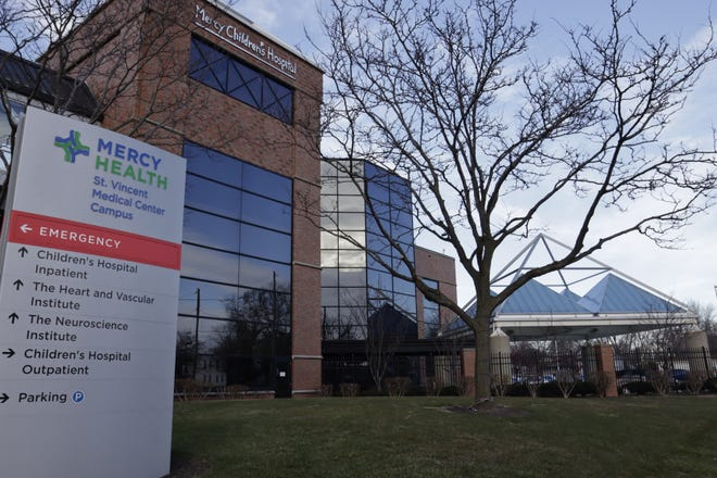 A view of Mercy Health-Children's Hospital in Toledo. Nationwide Children's Hospital in Columbus announced that it will purchase the hospital for an undisclosed amount. The deal will be complete Jan. 1, 2022.