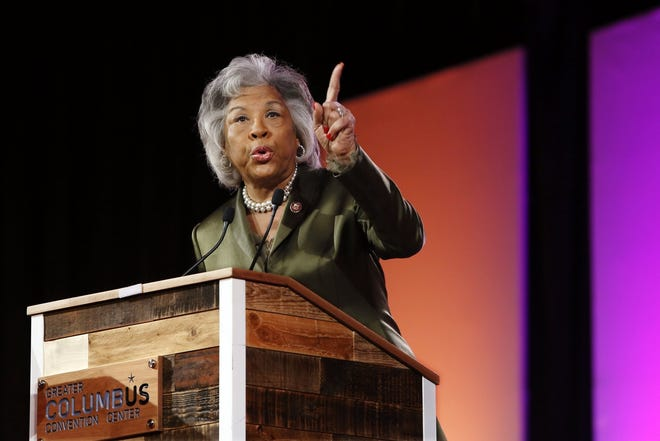 Rep. Joyce Beatty, pictured at the 34th Martin Luther King Breakfast at the Columbus Convention Center January 21, 2019, is cosponsoring a resolution to censure President Donald Trump.