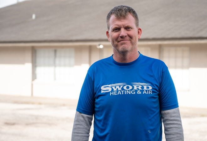 Former Marine Corps Sgt. Eric Sword runs Sword Heating & Air in Leesburg.