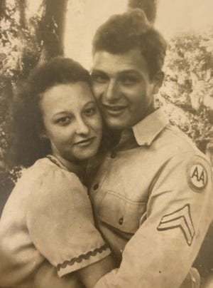 Virginia and Sam met at the Leesburg USO during World War II. They were married for 57 years and raised three children.
