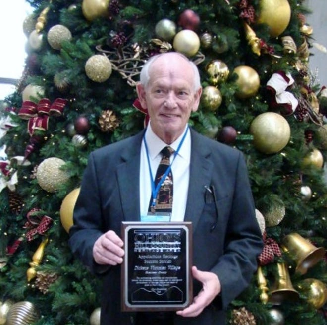 Bob Ley was honored by Heritage Ohio for his work in promoting the Appalachian Region.