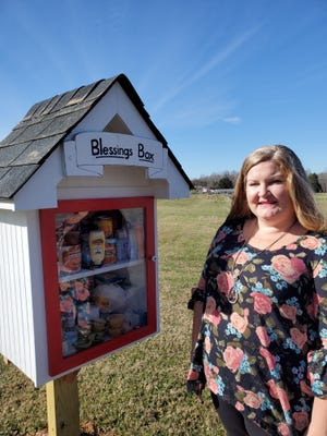 Holly Grove Lutheran Church erected its blessing box in November full of free food for anyone in need, and church member Kristal Ferguson is working to create on Facebook a centralized directory of blessing boxes in Davidson County.