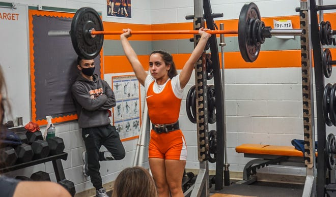 Amarise Rodriguez led the University High girls weightlifting team to a victory over Deltona. Submitted Wednesday, Dec. 2, 2020.