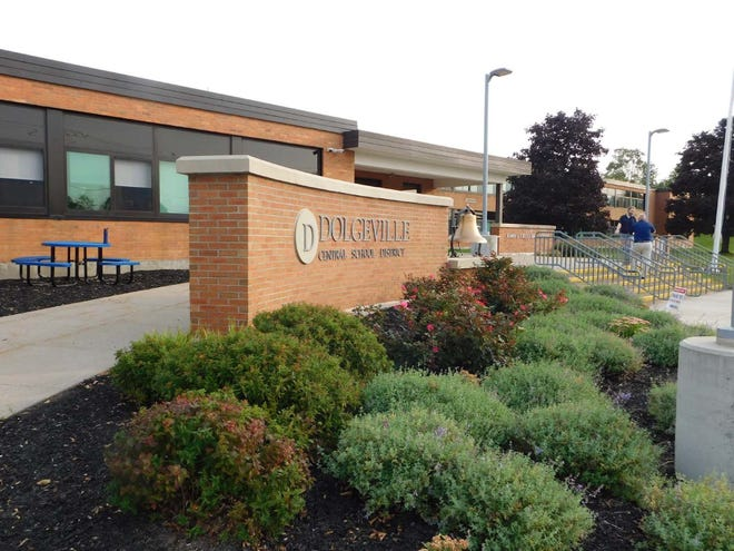 The Dolgeville school board will meet at noon Wednesday to discuss the two finalists for school superintendent.