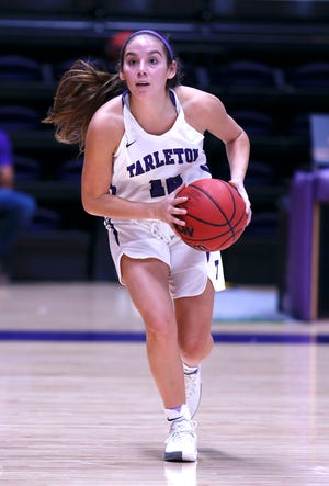 Glen Rose High graduate and Tarleton State freshman Hailey Ibarra scored the first three points of her collegiate career Wednesday night at Wisdom Gym in Stephenville in the Texans' 80-39 win over Bacone College. She also recorded five rebounds, four assists and three steals in 11 minutes. She has appeared in all three Tarleton State games so far this season.