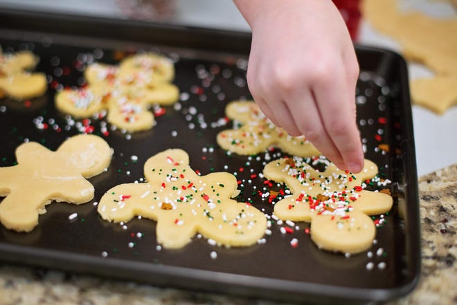 Bake one cookie sheet at a time. If you need to do more than one, leave a couple of inches around the sheets for air circulation.