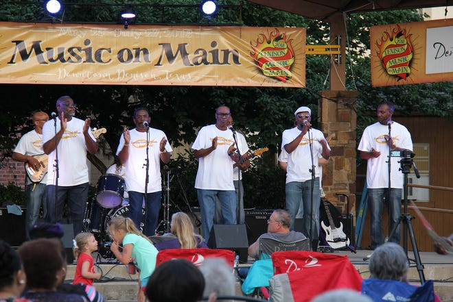 Local group, the Texoma Gospel Saints, perform at Music on Main in 2018. The city of Denison is pursuing status as a Music Friendly Community with the Texas Governor's office.