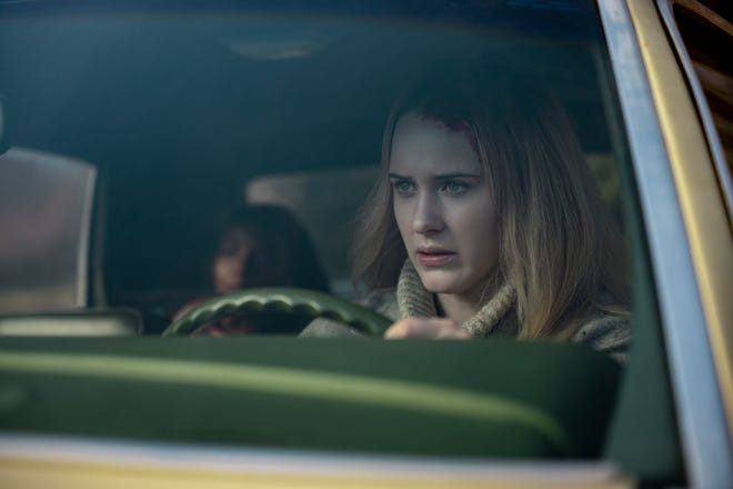 """Marsha Stephanie Blake, background left, and Rachel Brosnahan appear in a scene from the film """"I'm Your Woman."""""""