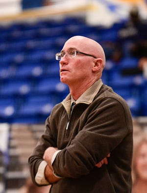 Frenship's head coach Paul Page watches from the sideline during a District 2-6A game Jan. 31 against Midland Lee in the Tiger Pit in Wolfforth. The Tigers dropped an 83-73 road decision to Palo Duro on Tuesday.