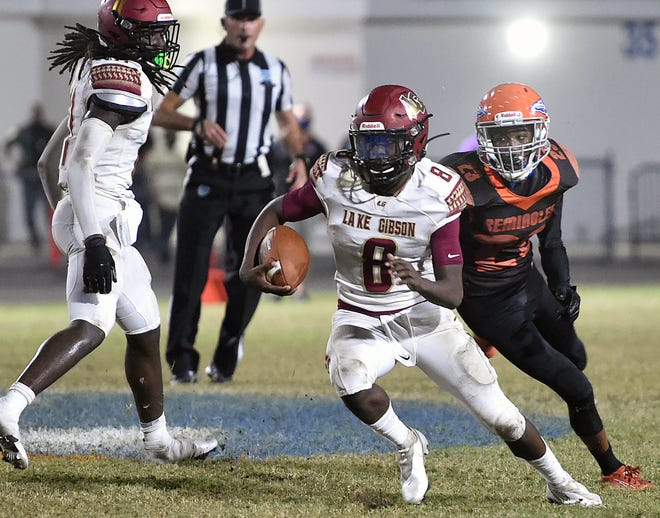 Lake Gibson's Malik Wallace makes a move against Southeast last week in the Class 6A, Region 3 semifinals.