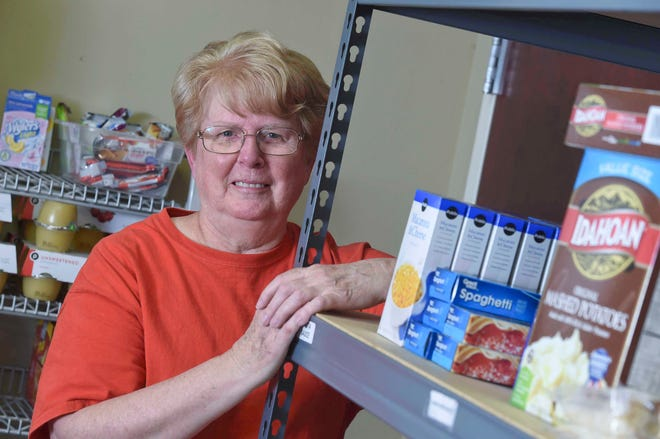 Before the COVID-19 pandemic, Salvation Army volunteer Lorraine Johnson worked several hours every morning in the food pantry.