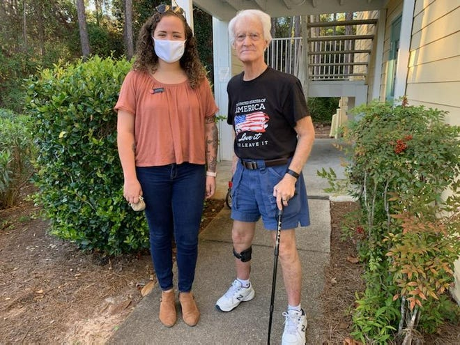 Terry Kelley, of Miramar Beach, received help from the Salvation Army of Okaloosa and Walton Counties, with guidance from Salvation Army social worker Hannah Pollock.