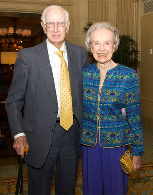 Louis and Joanna Pryor at the Palm Beach Fellowship of Christians & Jews Annual dinner at The Breakers in Palm Beach in March 2019. MGHAN MCCARTHY / PALM BEACH DAILY NEWS