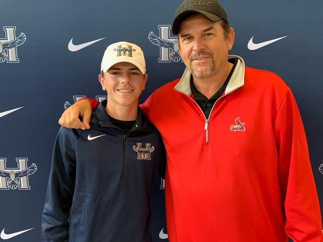 Winning golf championships is all in the family for Heartland Community College recruit Mason Minkel and his father Curt Minkel.