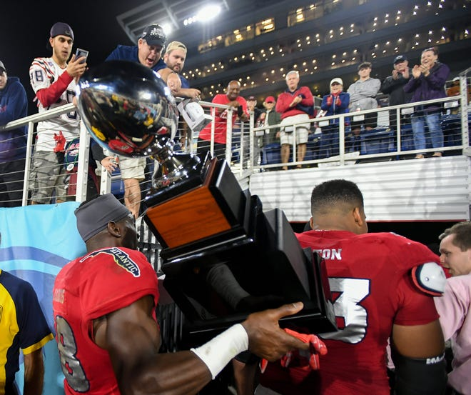 Florida Atlantic players celebrated their victory over SMU with their fans in the stadium after last year's Boca Bowl, but things will look quite different in 2020.