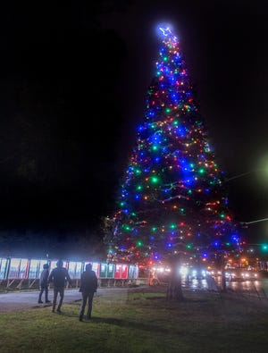 The Hospice of San Joaquin's annual Tree of Lights display at San Joaquin Delta College .