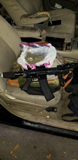 A weapon was recovered during an apprehension in Stockton on Wednesday. The suspect was arrested for assault with a deadly weapon and weapons charges after a shooting that sent a man's car into a building.