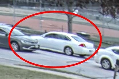Aurora police are seeking the public's help in identifying the driver of the circled car after it struck a Harmon Middle School student in front of the West Pioneer Trail fire station on Nov. 20. The girl was uninjured.