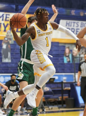 Senior guard Mike Nuga has led the Kent State men's basketball team in scoring in each of the first two games of the 2020-21 season.