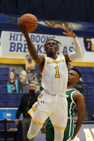 Senior guard Mike Nuga is averaging 19 points per game in his first season at Kent State.