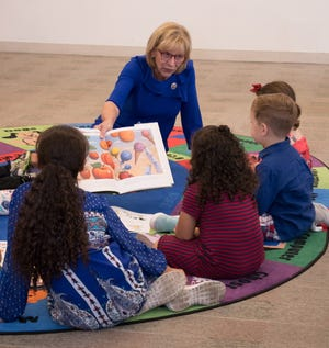 Ohio first lady Fran DeWine reads to children when the program began in September 2019 in Stark County.
