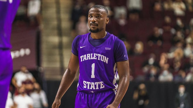 Tarleton's Montre' Gipson finished Wednesday's game against Texas A&M with a career-high 23 points on 4-5 from 3-point range and added a game-high three steals.