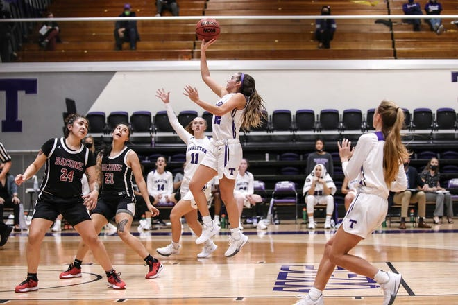 The Tarleton Lady Texans cruised past Bacone College 80-39 on Wednesday inside Wisdom Gym to cap a two-game homestand and move to 2-1 on the season.