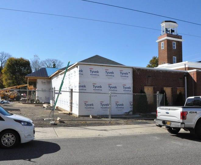 The expansion at Citizens' Hose Company in Smyrna will include a larger social hall at the firehouse, pictured here from Delaware Street, looking west.