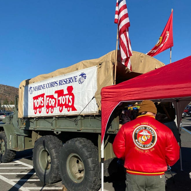 A recent Toys For Tots drive.
