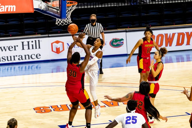 Florida guard Nina Rickards scored 12 points to go with seven rebounds Wednesday. [File]
