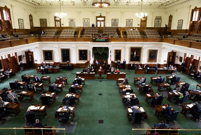 The Senate floor during the 2019 legislative session.