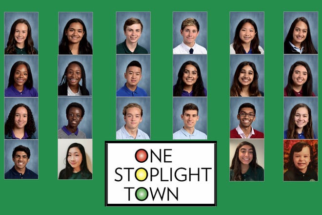 """The full cast of """"One Stoplight Town."""""""