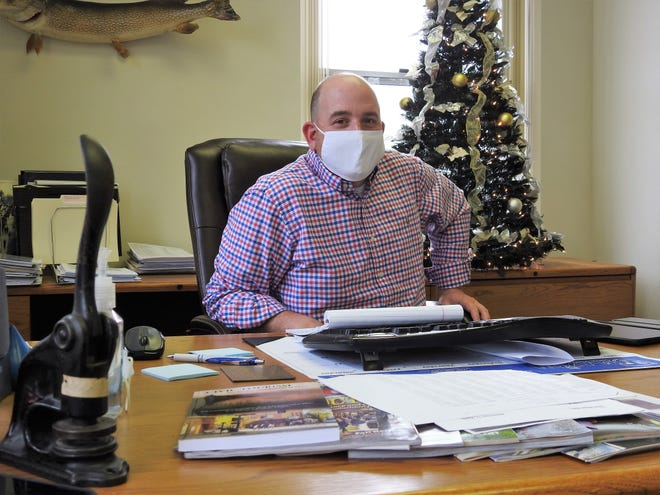 Mayor Mark Mills in his office at Coshocton City Hall recently reflected on his first year in office. While the COVID-19 pandemic has been a struggle, Mills believes he's had a lot of successes and believes Coshocton has a bright future.