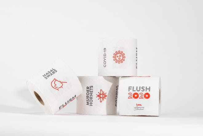 American Standard is inviting Americans to flush 2020 down the drain with limited-edition toilet paper.