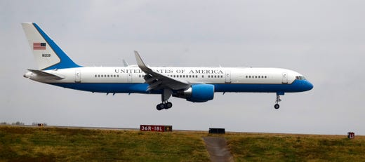 Air Force Two touches down at the Air National Guard 164th Airlift Wing as Vice President Mike Pence arrives in Memphis for a rountable discussion about Operation Warp Speed on Thursday, Dec. 3, 2020, in Memphis, Tenn.