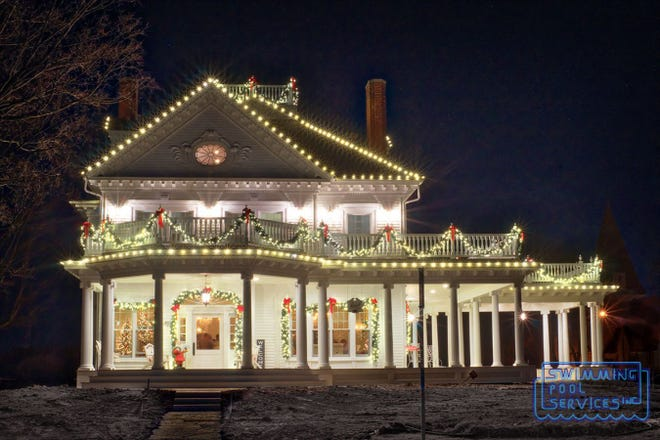 For the past few years, this home off of Lake Road in Oconomowoc has been decorated for the holidays by Swimming Pool Services of Waukesha.
