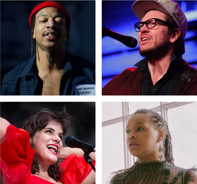 Some of the Milwaukee artists behind the best local albums and songs of 2020 include (from top left) Lorde Fredd33, Field Report (with Christopher Porterfield), Ms. Lotus Fankh, and You Win !!! (with Amanda Huff).