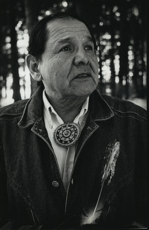 Eddie Benton-Banai, photographed in 1989, made a life of connecting American Indians with their spirituality and promoting sovereignty, and was the grand chief, or spiritual leader, of the Three Fires Midewiwin Lodge.