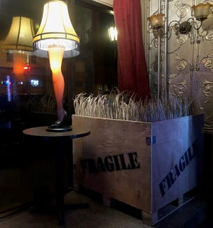 """City Lounge in Cudahy will have a leg lamp at its """"Fra Gee Lay"""" Christmas movie mashup pop-up bar experience."""