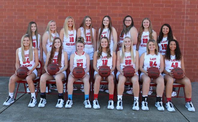 The Creek Wood girls basketball team for the 2020-21 season.