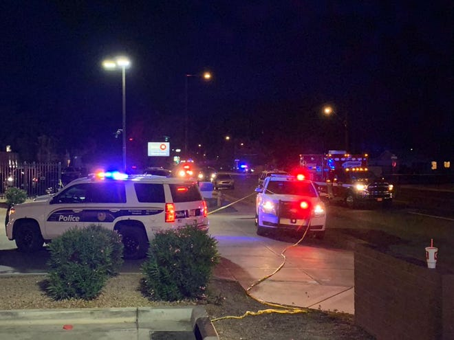 A person was shot and killed by Phoenix police officers near 19th and Dunlap avenues on Dec. 3, 2020. A police K-9 also was injured in the shooting.