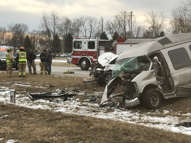 Crews responded to a two-vehicle crash on M25 between Harris and Jeddo roads Thursday afternoon, Dec. 3, 2020, in Burtchville Township.