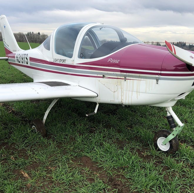 A pilot made a successfulemergency landing with a failing plane engine in a field north of Keizer on Thursday, Dec. 3, 2020. The pilot and the passenger, a flight instructor, were uninjured.