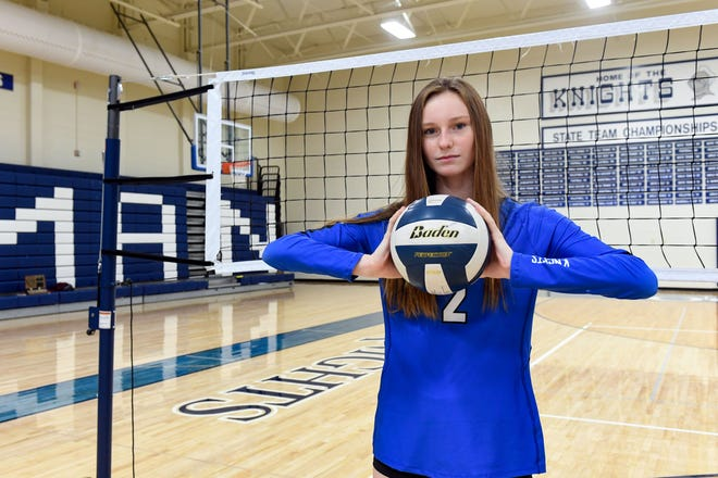 Bergen Reilly poses for a portrait on Wednesday, December 2, at O'Gorman High School in Sioux Falls.