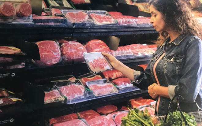 When selecting a cut of beef, it is important to check for color, freshness, firmness and intact packaging.
